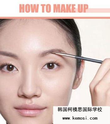 化妆培训教你如何画立体粗眉