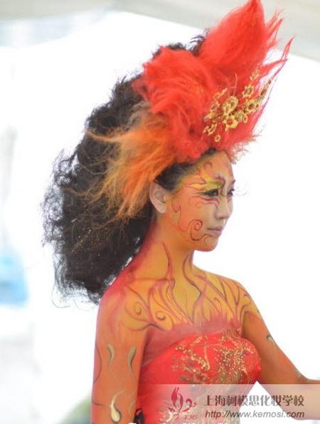 中国参加2011国际人体彩绘节