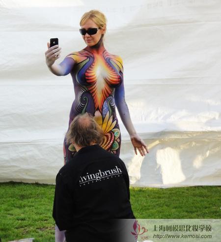 2011国际人体彩绘节模特自拍
