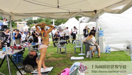 2011国际人体彩绘节现场