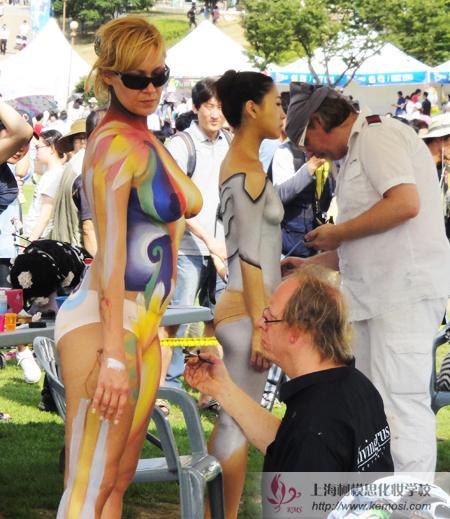 2011国际人体彩绘节美国彩绘大师