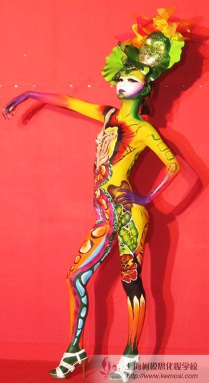 人体彩绘作品