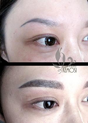 韩式绣眉矢量图